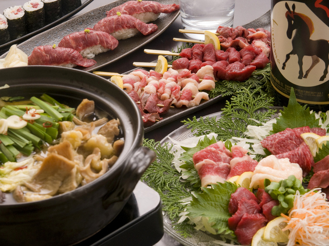 博多馬肉処ふろくの料理